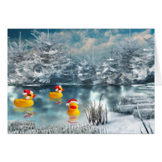 Duck Christmas Card
