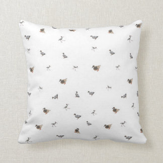 duck collage on white background cushion