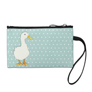 Duck Cool dots Key Coin Clutch Bag Coin Wallet