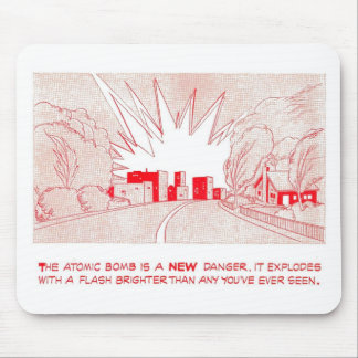 "Duck & Cover - ""A New Danger"" Mousepad"