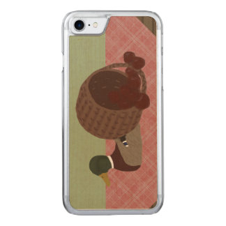 Duck Decoy and Apple Basket Real Wood iPhone Carved iPhone 8/7 Case