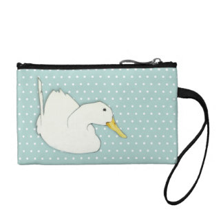 Duck Dip dots Key Coin Clutch Bag Change Purse