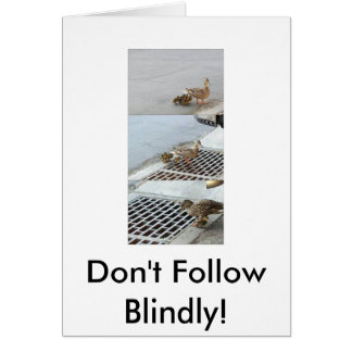 duck, Don't Follow Blindly! Card
