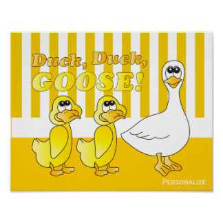 Duck, Duck, Goose Baby Nursery Theme Poster