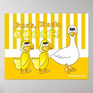 Duck, Duck, Goose Baby Nursery Theme Poster