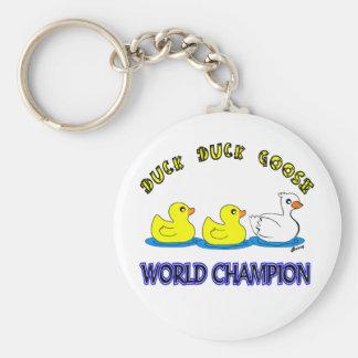Duck Duck Goose World Champion Key Ring