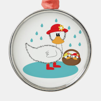 Duck & Ducklings Christmas Ornament