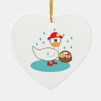 Duck & Ducklings Christmas Ornament