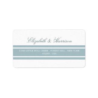 Duck Egg Blue Modern Wedding Address Label