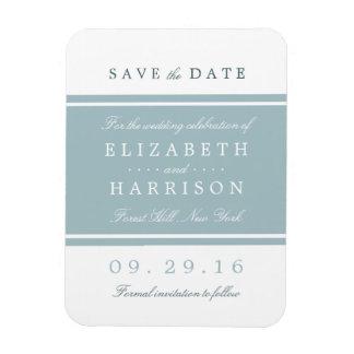 Duck Egg Blue Modern Wedding Save The Date Magnet