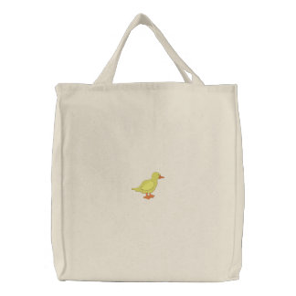 Duck Embroidered Tote Bag