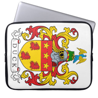 Duck Family Crest Laptop Computer Sleeve