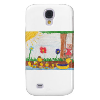 Duck Family & Kitty Cat Galaxy S4 Cover