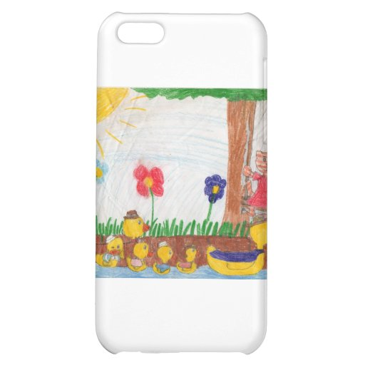 Duck Family & Kitty Cat iPhone 5C Cases