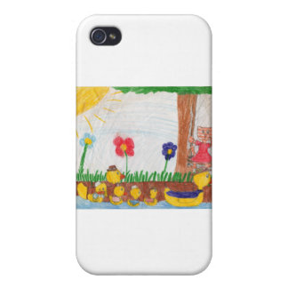 Duck Family & Kitty Cat iPhone 4/4S Case