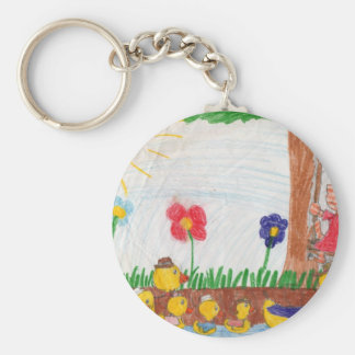 Duck Family Kitty Cat Key Chains