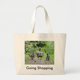 Duck Family Large Tote Bag