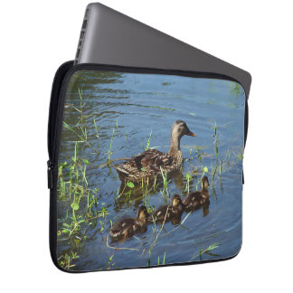 Duck Family Nature Laptop Sleeve