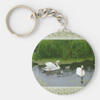 Duck Family Photo Key Chain