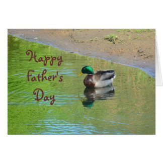DUCK FLOATING ON POND /HAPPY FATHERS DAY GREETING CARDS