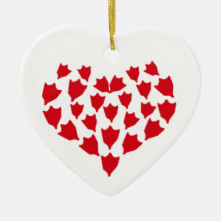 Duck foot heart christmas ornament