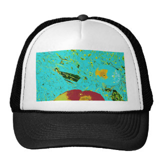 Duck Frog Peach and Fish Surreal Design Cap