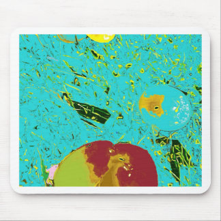 Duck Frog Peach and Fish Surreal Design Mouse Mat