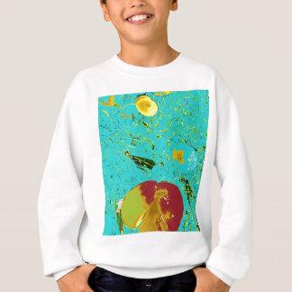 Duck Frog Peach and Fish Surreal Design Sweatshirt