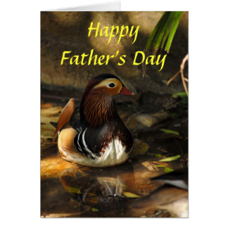 Duck, Happy Father's Day Greeting Card