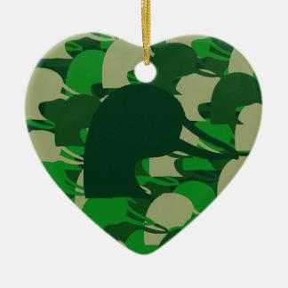Duck Head Camo Ceramic Heart Decoration