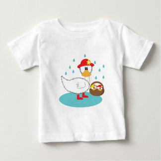 Duck & her ducklings Illusratation Baby T-Shirt