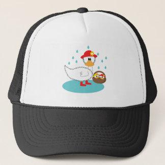 Duck & her ducklings Illusratation Trucker Hat
