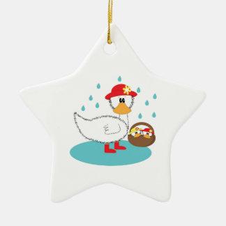 Duck & her ducklings Illustration Christmas Ornament