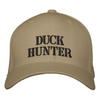 DUCK HUNTER EMBROIDERED HATS