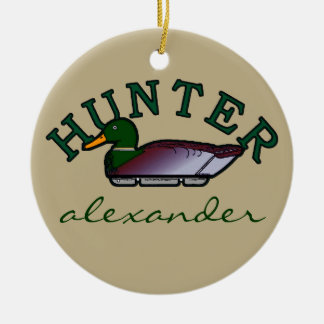 Duck Hunter- Personalized Christmas Ornament