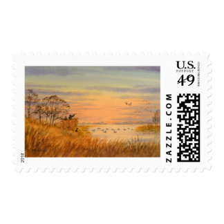 Duck Hunters Postage Stamp