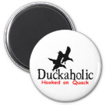 DUCK HUNTING 6 CM ROUND MAGNET
