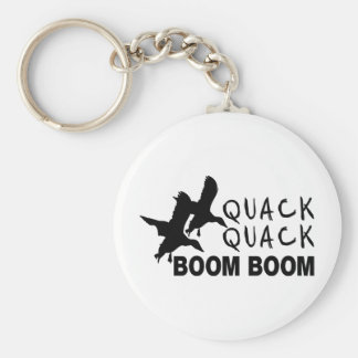 DUCK HUNTING BASIC ROUND BUTTON KEY RING