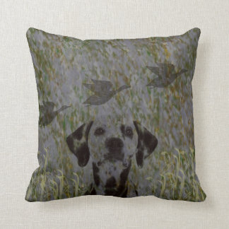 Duck Hunting Dog camo throw pillow