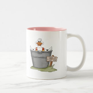 Duck In A Tub Two-Tone Mug