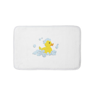 Duck in Blue Bubbles Bath Mat