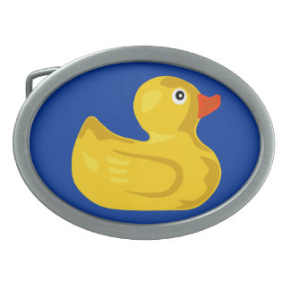 Duck in blue pond belt buckles