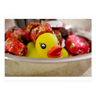Duck in Candy Postcard