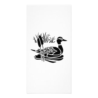 Duck in Pond Personalized Photo Card
