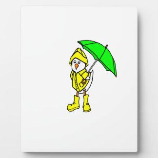 Duck In Raincoat Display Plaque