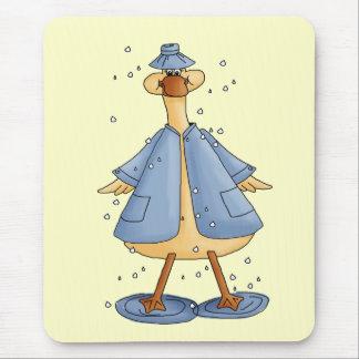 Duck In Raincoat Mousemats
