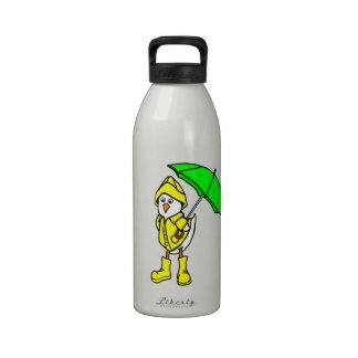 Duck In Raincoat Reusable Water Bottles