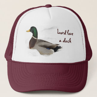 Duck in Snow Trucker Hat