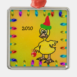 Duck in Stained Glass Christmas Ornament