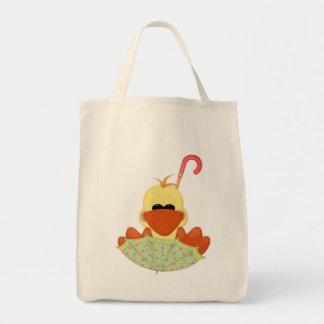Duck in Umbrella Tote Bags